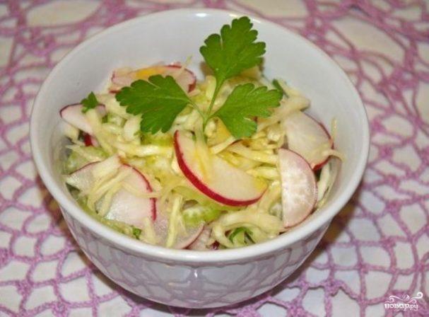 Салат к картошке с мясом