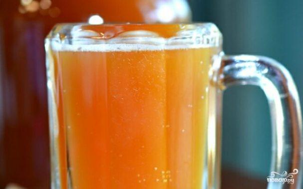 Квас из березового сока без дрожжей