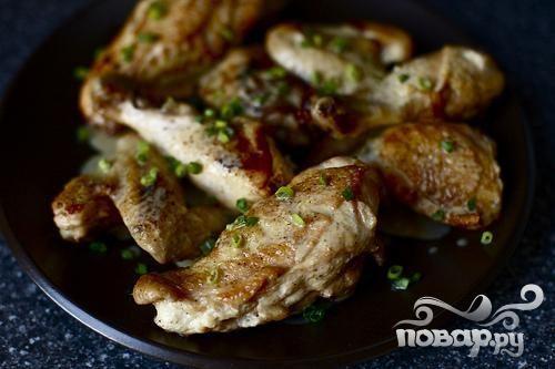 Жареная курица с горчичным соусом