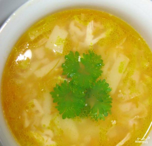 Суп с макаронами и курицей