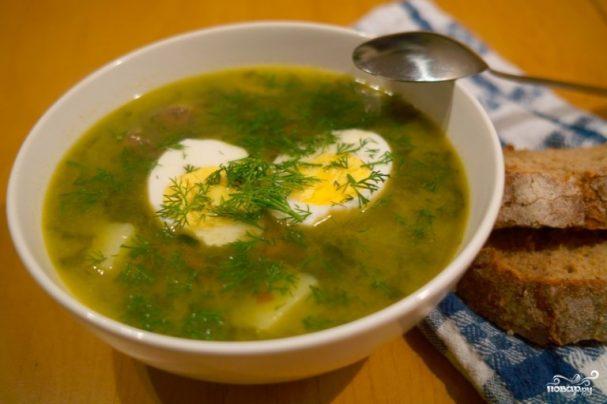 рецепт супа из щавеля с курицей и яйцом