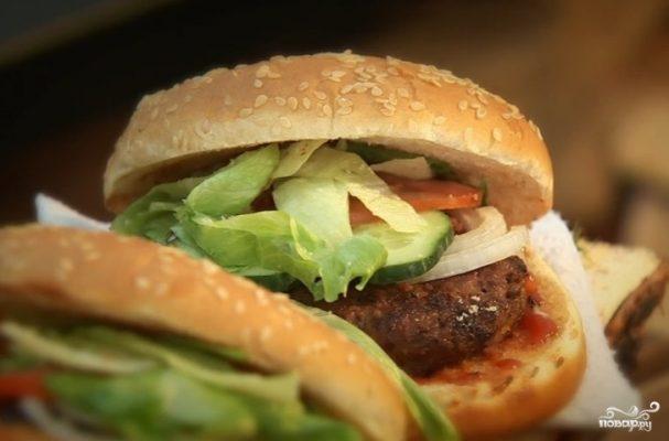 Бургер со свининой