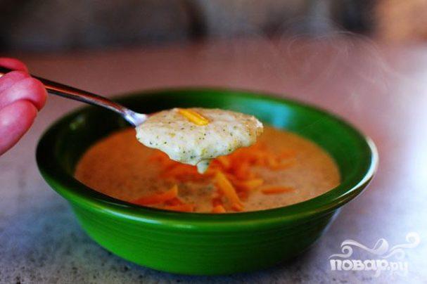 Нежный сырный суп с брокколи