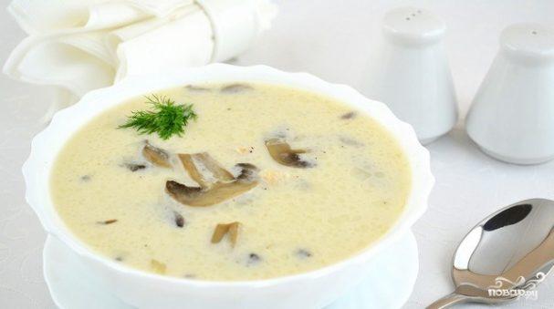 Грибной суп с сырками