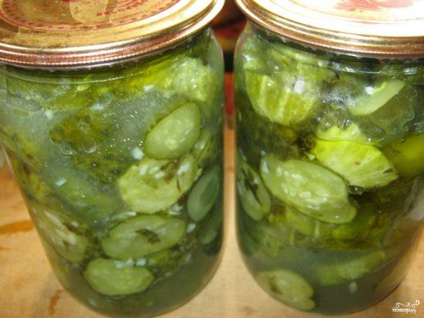 Салат из огурцов на зиму без стерилизации