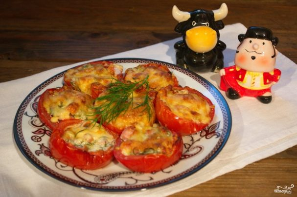 Помидоры с сыром в духовке