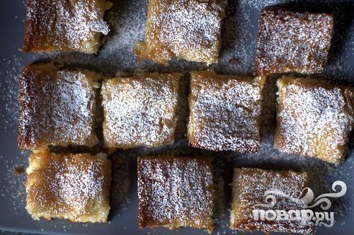 Дрожжевой пирог со сливочной начинкой