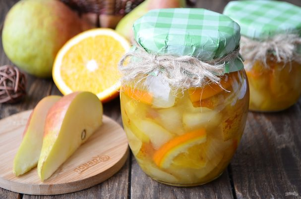 Варенье из груш с апельсином