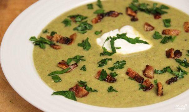 Грибной суп из шампиньонов со сливками