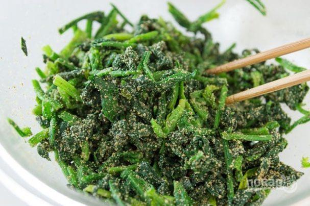 Японский салат из шпината