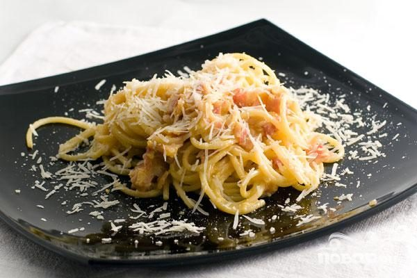 Спагетти с беконом