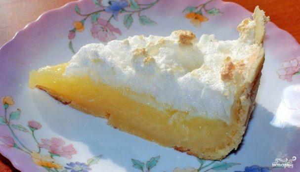 Лимонные пирожные с безе