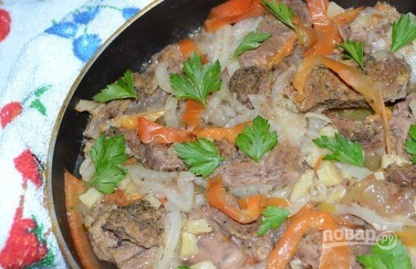 Сковородка с мясом