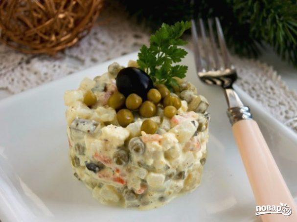 """Вегетарианский салат """"Оливье"""""""