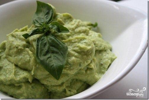 Вегетарианский соус из авокадо