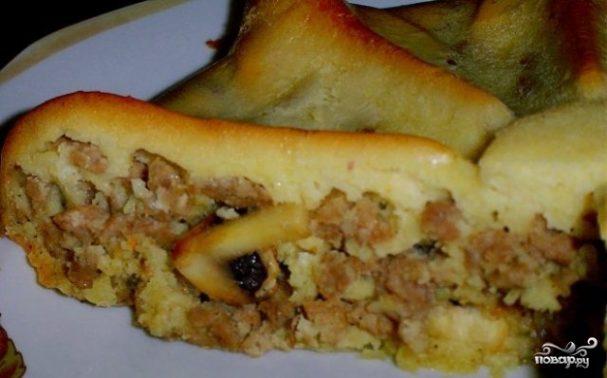 Наливной пирог с мясом