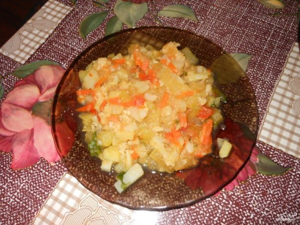 Рагу из цветной капусты рецепт пошагово
