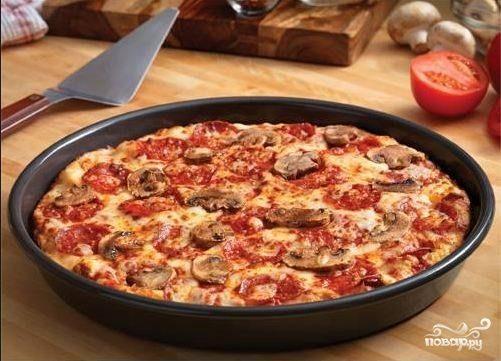 Пицца 10 минут на сковороде