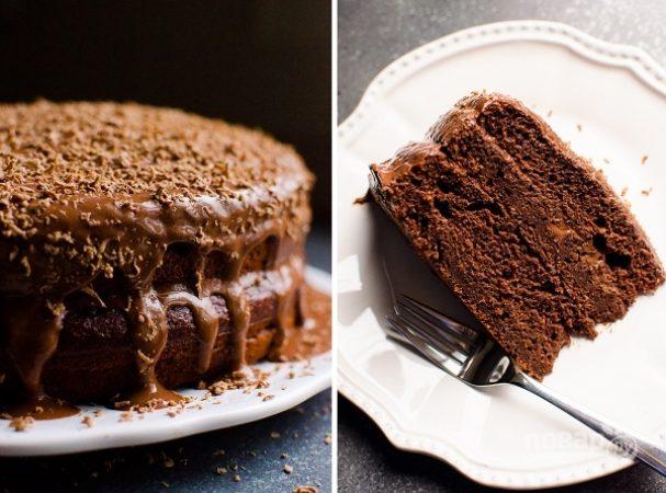 Шоколадный торт без сахара