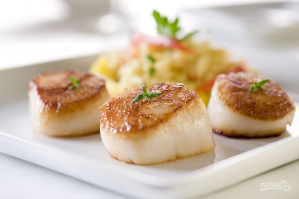 Морские гребешки в духовке