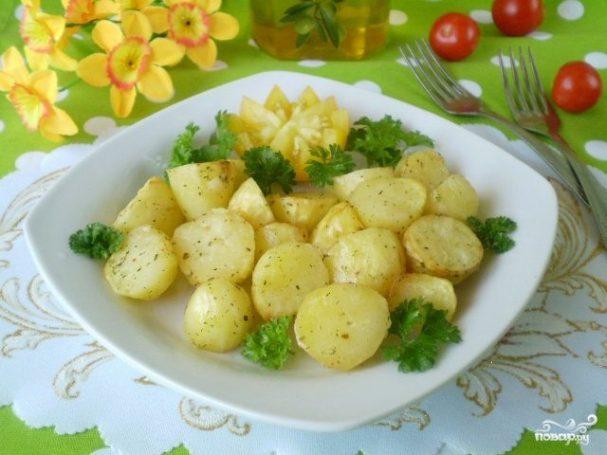 Картофель кусочками в духовке