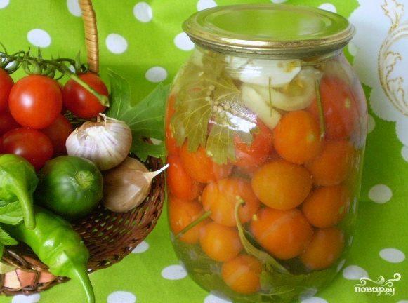 Закатка помидоров в литровые банки