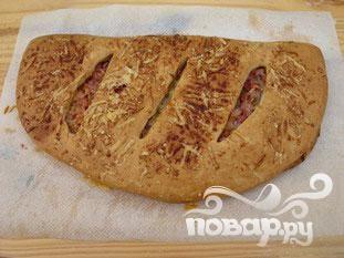 Крытый пирог с беконом и сыром