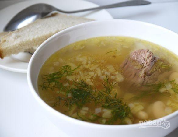 Фасолевый суп с говядиной