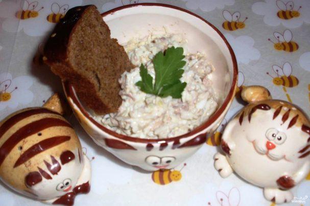 Салат с сайрой