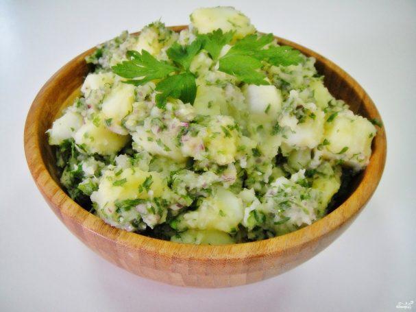 Картофельный салат с луком