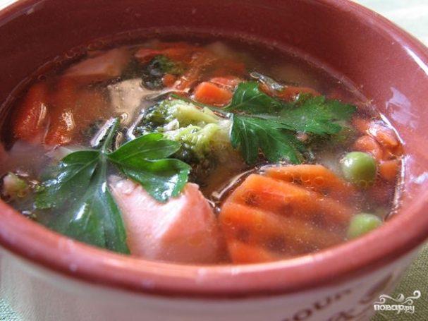 Овощной суп с рыбой