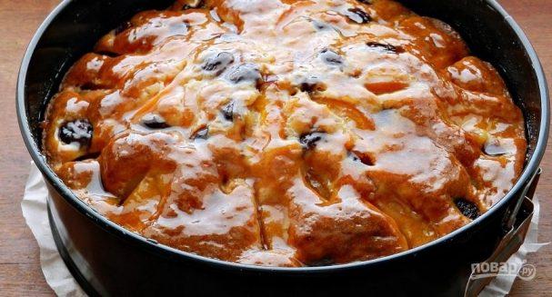 Пирог с черешней на кефире