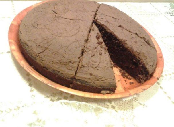 Шоколадный пирог с заварным тестом