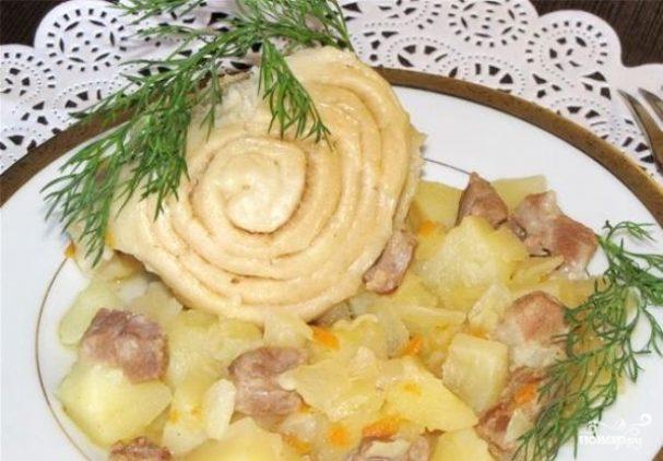 Штрудель с мясом и картошкой