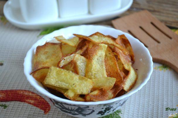 Картофельные чипсы на сковороде рецепт пошагово в домашних условиях 73