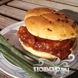 Свинина с соусом барбекю и манго