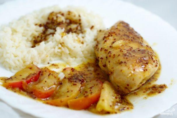 Куриное филе в медово-горчичном соусе