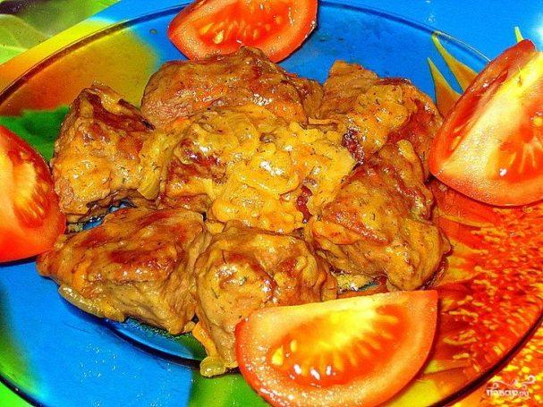 Печень говяжья по корейски