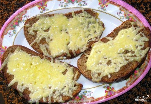 Бутерброды с сыром в духовке