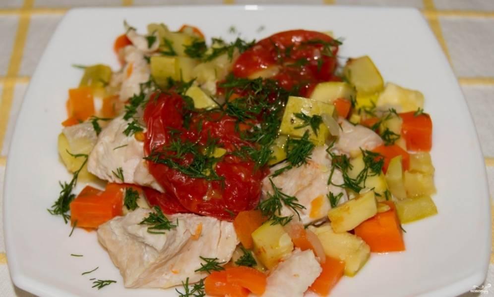 Индейка в пароварке с овощами - пошаговый рецепт