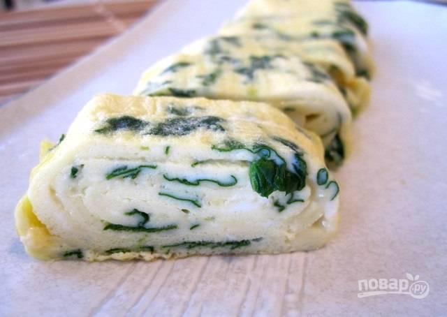 Яичный ролл на завтрак - пошаговый рецепт