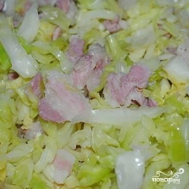 Тушеная капуста с беконом - пошаговый рецепт с фото на
