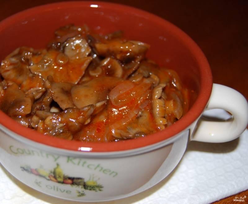 Грибной соус из маринованных шампиньонов