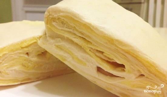 Слоеное тесто без дрожжей
