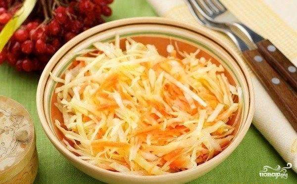 Свежий салат из капусты с морковью