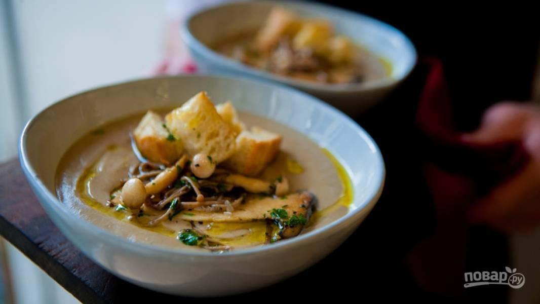 Суп пюре из белых грибов замороженных рецепт пошагово