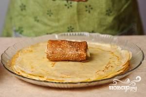 Блинчики, фаршированные мясом - пошаговый рецепт