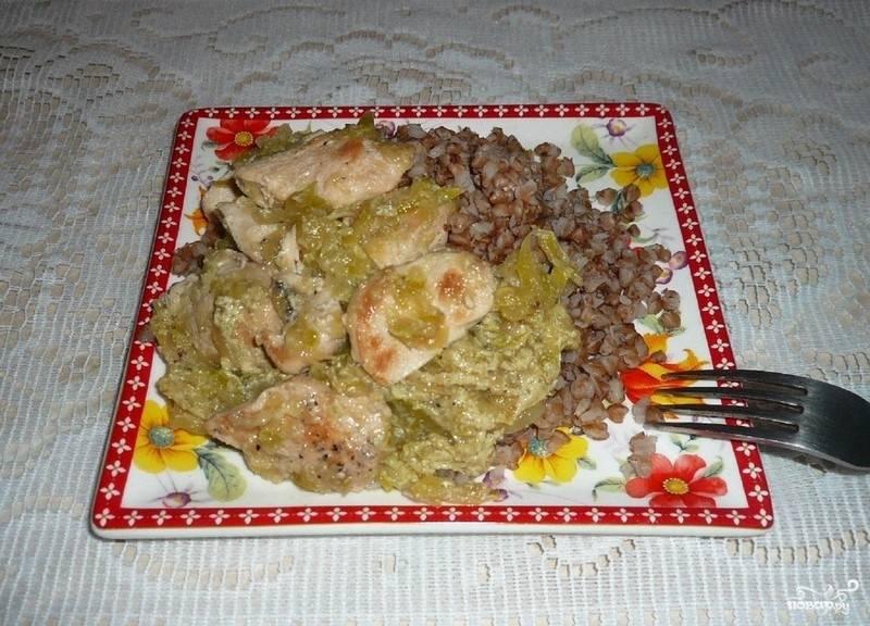 Кабачки, тушенные с курицей - пошаговый рецепт