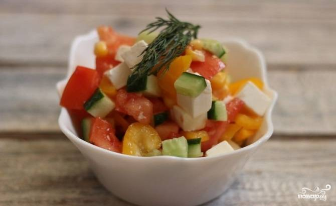 Салат с фетой - пошаговый рецепт с фото на