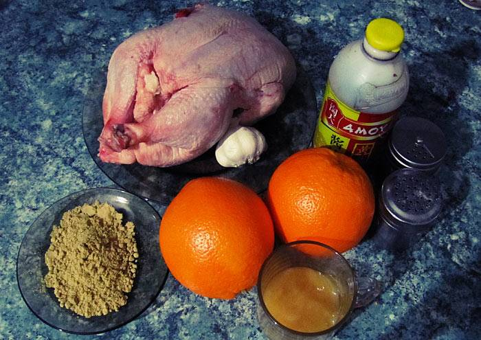 Курица с апельсинами - пошаговый рецепт